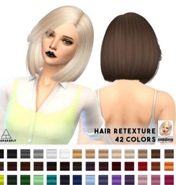 Miss Paraply: Nightcrawler Moonlight hairstyle retextured for Sims 4