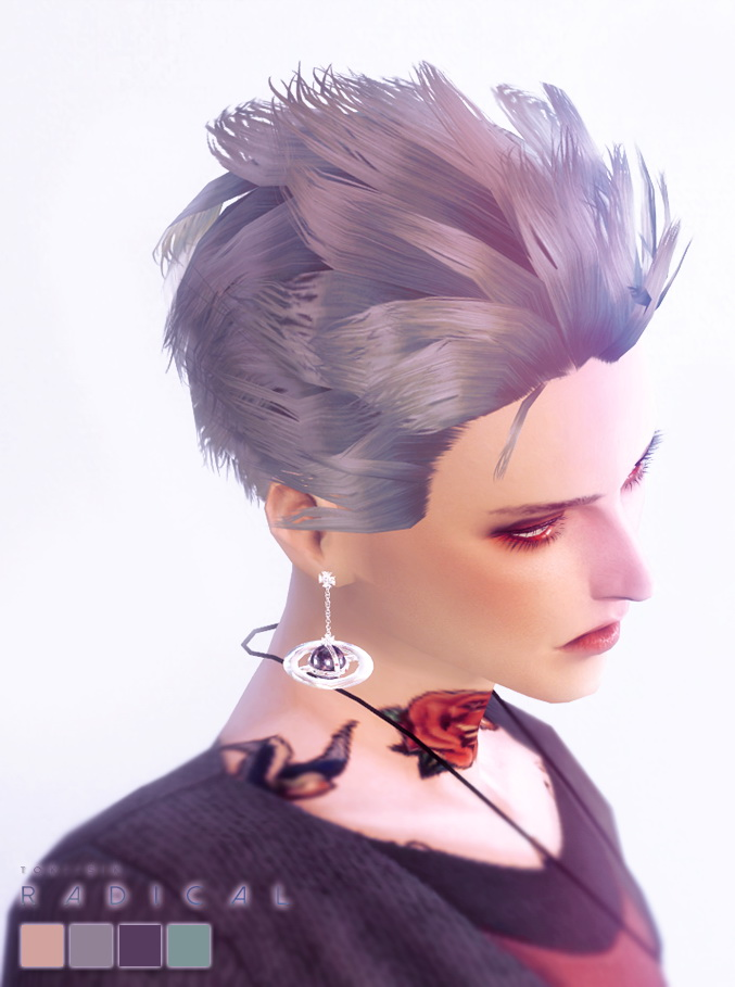 Sims 4 Hairs Tok Sik Alpha Hairstyle