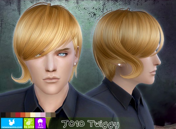 NewSea: Casual modern hairstyle J010 Twiggy for Sims 4