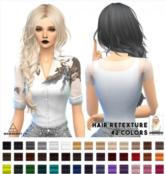 Miss Paraply: MaySims Hairstyle retextured for Sims 4