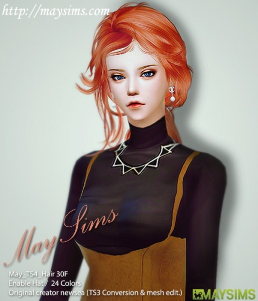 MAY Sims: May Hairstyle 30F for Sims 4