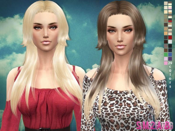 The Sims Resource: Rose hairstyle 03 by SIm2fanbg for Sims 4