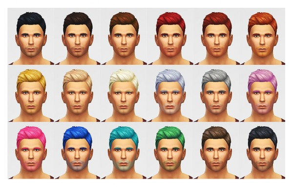 Lumia Lover Sims: Combed parted hair for Sims 4