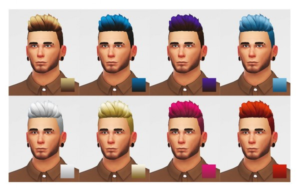 Lumia Lover Sims: Slicked back shaved hairstyle for Sims 4