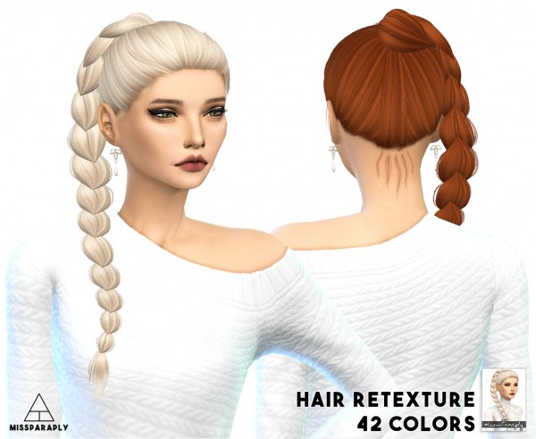 Miss Paraply: Alesso`s Angels hairstyle retextured for Sims 4