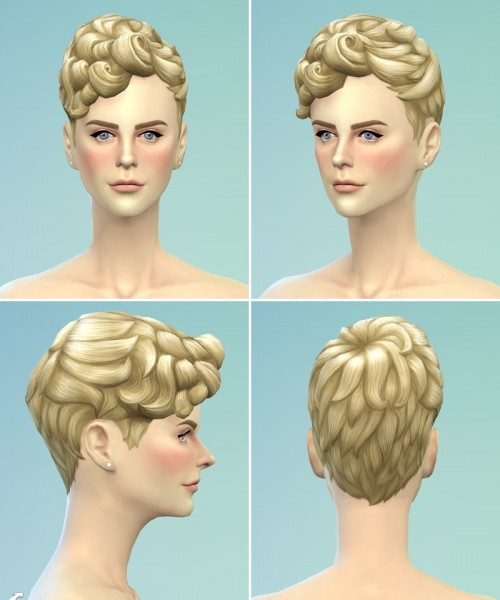 Rusty Nail: Pixi curl hairstyle retextured for Sims 4