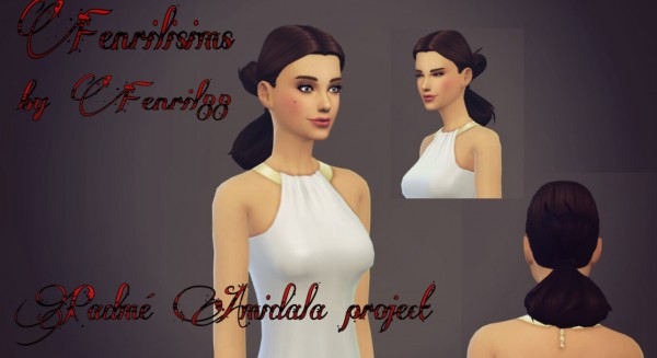 Fenrilsims: Padmé Amidala hairstyle for Sims 4