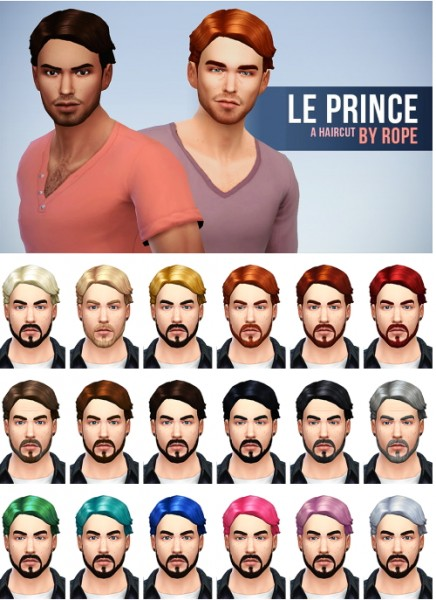 Simsontherope: Le Prince hairstyle for Sims 4
