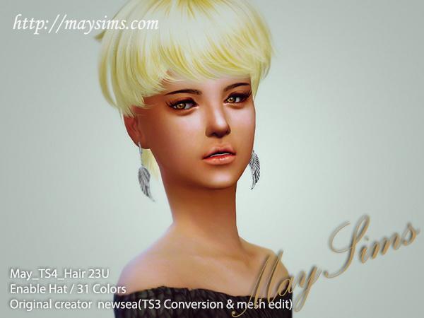 MAY Sims: May Hairstyle 23U for Sims 4