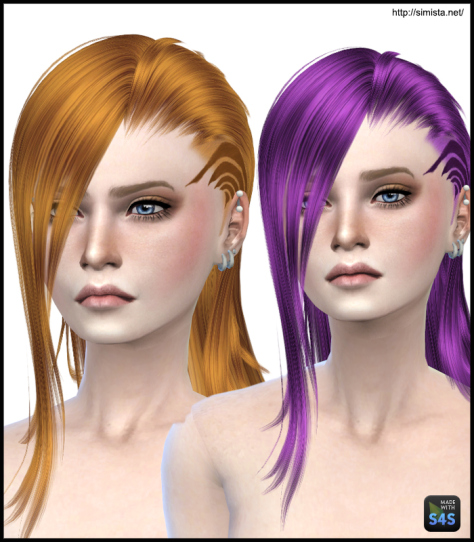 Simista: MaySims 33F hairstyle retextured for Sims 4
