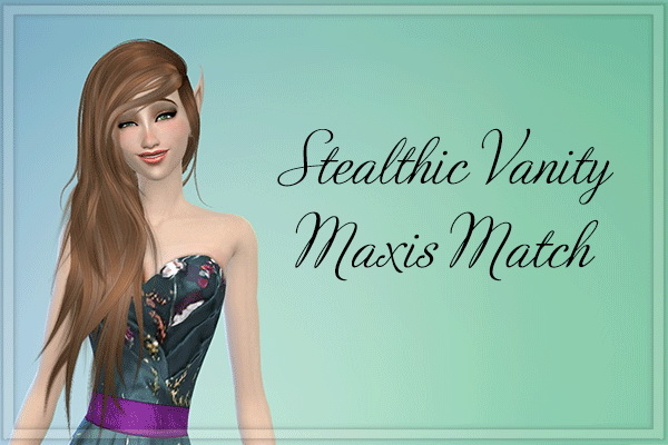 Stardust: Stealthic Vanity hairstyle retextured for Sims 4