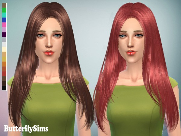 Butterflysims: Hairstyle 122 for Sims 4