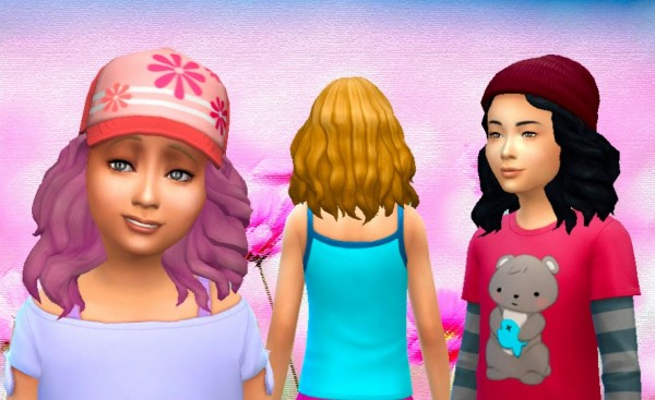 Mystufforigin: Passion Hairstyle for Girls for Sims 4