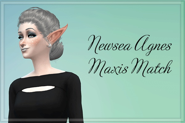 Stardust: Newsea`s Agnes hairstyle retextured for Sims 4