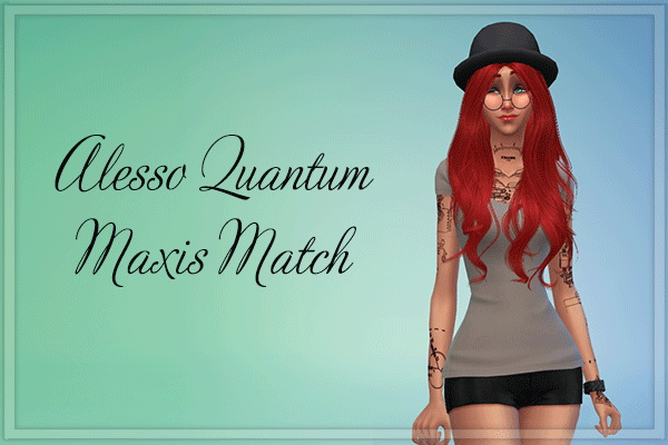 Stardust: Alesso`s Quantum hairstyle retextured for Sims 4