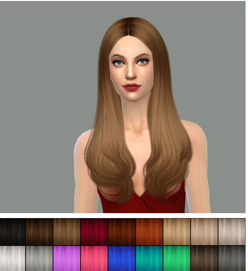 Delirium Sims: Cazy's Jodie hairstyle retextured for Sims 4