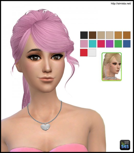 Simista: Skysims 140 hairstyle retextured for Sims 4