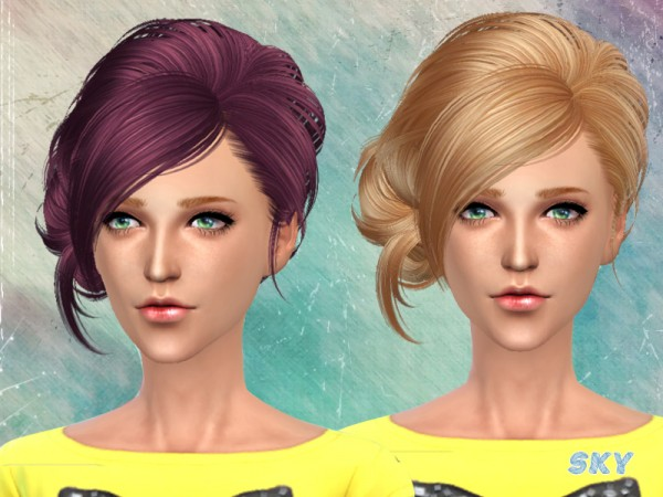 The Sims Resource: Hairstyle 113 by Skysims for Sims 4