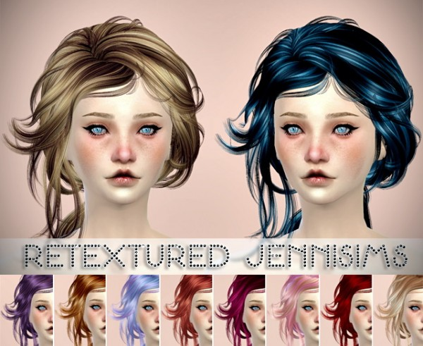 Jenni Sims: MaySims hairstyles retextured for Sims 4