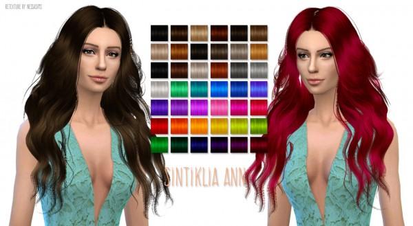 Nessa sims: Sintiklia`s Hairstyle Ann retextured for Sims 4