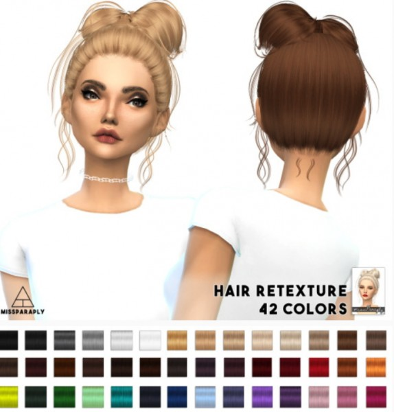 Miss Paraply: Sintiklia`s Zoella hairstyle retextured for Sims 4