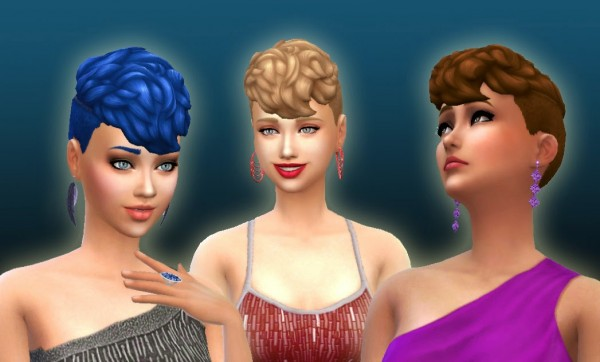 Mystufforigin: Scientist Clean Sides hairstyle conversion for Sims 4