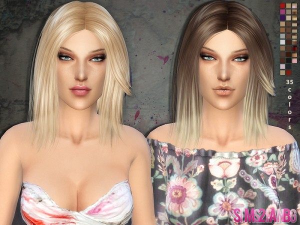 The Sims Resource: Hair   01 by sims2fanbg for Sims 4