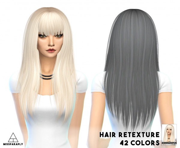 Miss Paraply: Alesso`s Heartbeat hairstyle retextured for Sims 4