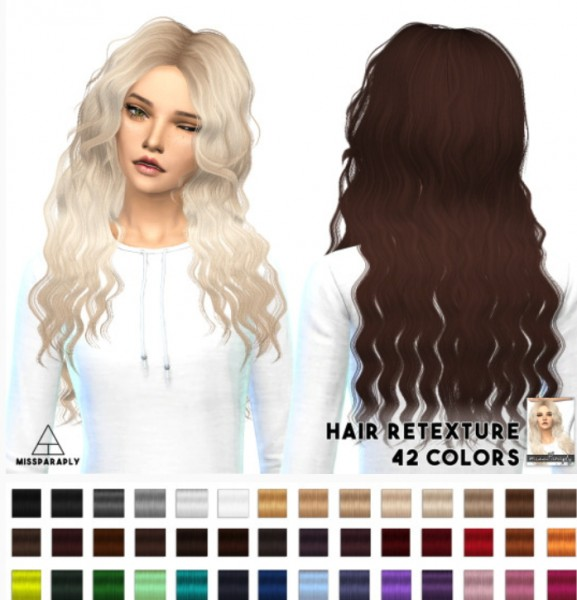 Miss Paraply: Sintiklia`a Britney hairstyle retextured by Artemis for Sims 4