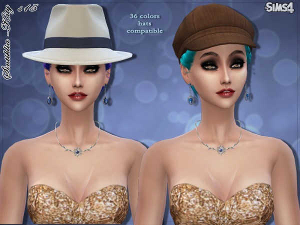 The Sims Resource: Katy hairstyle 15 by Sintiklia for Sims 4
