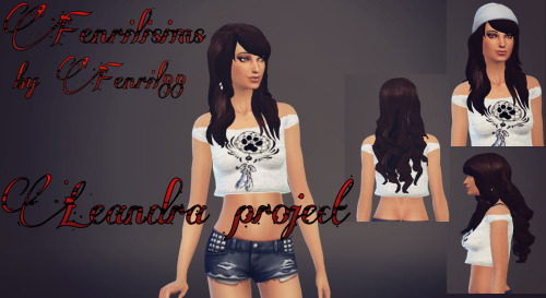 Fenrilsims: Leandra hairstyle for Sims 4