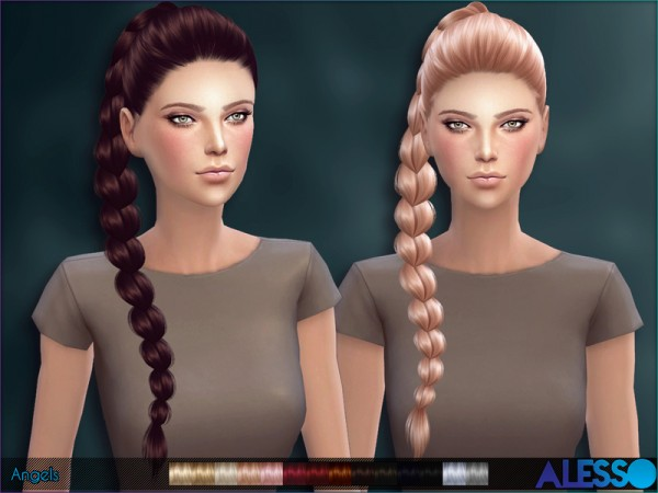 The Sims Resource: Angels hairstyle by Alesso for Sims 4