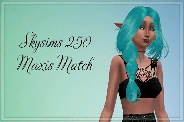 Stardust: Skysims 250 Hairstyle for Sims 4