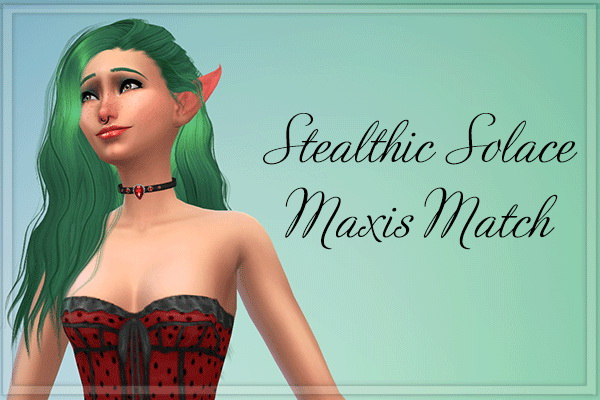 Stardust: Stealthic`s Solace hairstyle retextured for Sims 4
