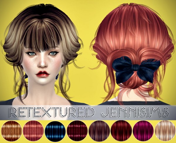 Jenni Sims: Newsea`s Summer Flavour and Aeolian Bell hairstyles retextured for Sims 4