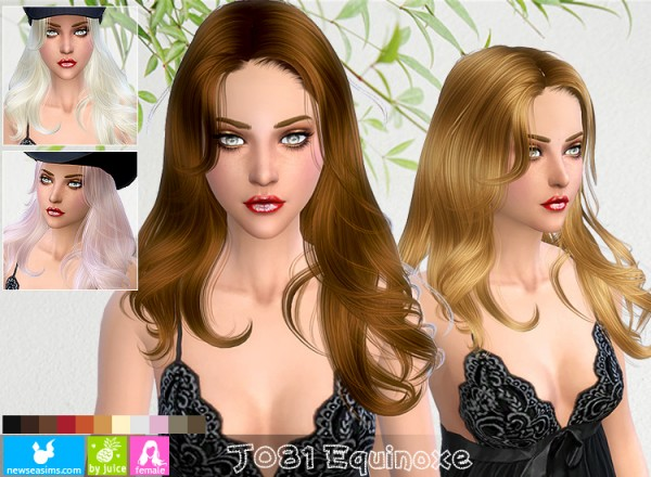 NewSea: J081 Equinoxe hairstyle for Sims 4