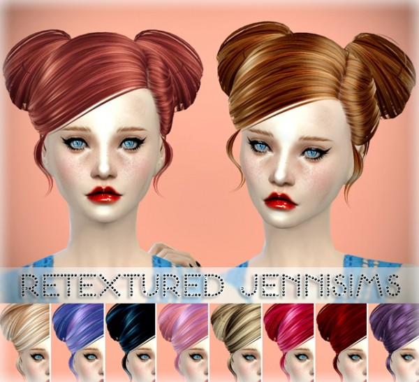 Jenni Sims: Butterflysims 078 and 091 hairstyles retextured for Sims 4