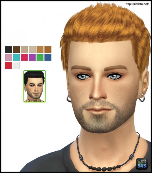 Simista: MaySims 17M Hairstyle Retextured for Sims 4