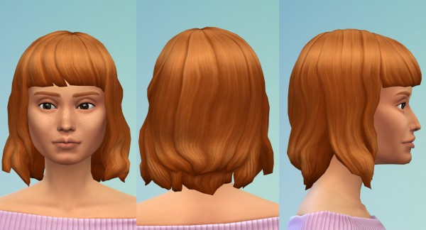 Sims 4 Hairs Mod The Sims Curly Bob With Bangs By Oepu