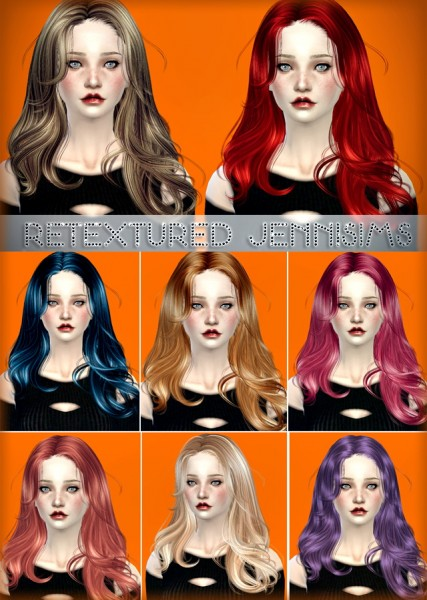 Jenni Sims: Newsea`s Equinoxe hairstyle retextured for Sims 4