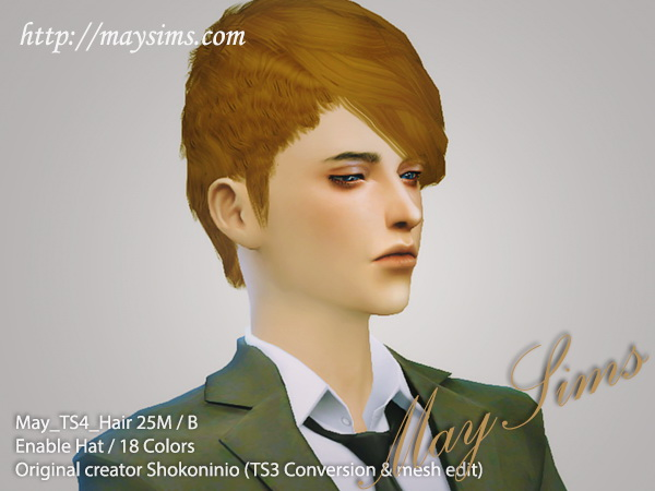 MAY Sims: May hairstyle 25M /B for Sims 4