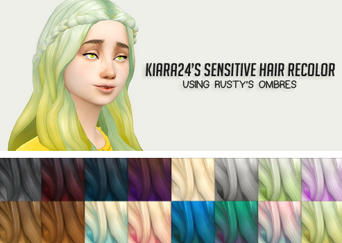 Liahxsimblr: Kiara`s Sensitive hairstyle recolors for Sims 4