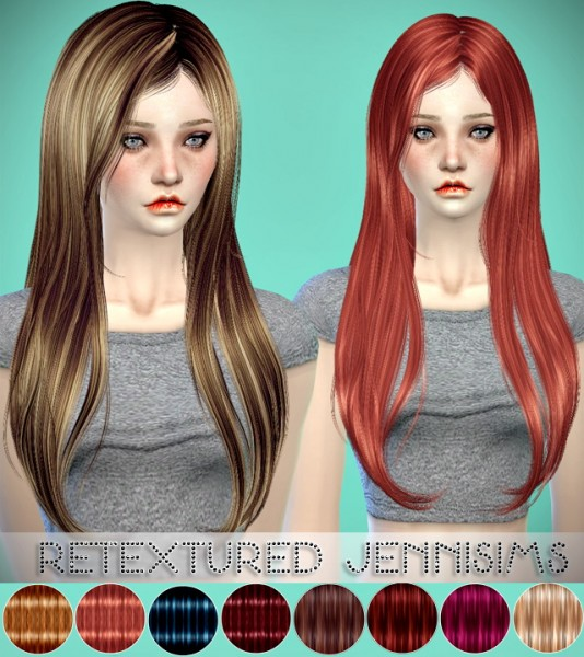 Jenni Sims: Newsea Capriccio and Guess hairstyle retextured for Sims 4