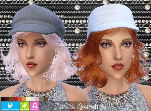 NewSea: J092 Heroine hairstyle for Sims 4