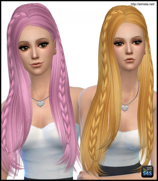 Simista: Skysims 233 Hairstyle Retextured for Sims 4