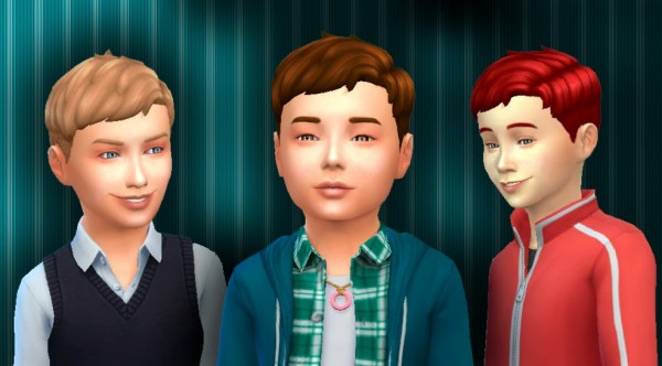 Mystufforigin: Parted Flat for Boys for Sims 4