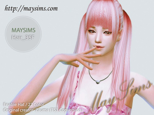 MAY Sims: May Hairstyle 35F retextured for Sims 4
