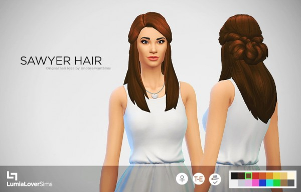 Lumia Lover Sims: Sawyer hairstyle for Sims 4