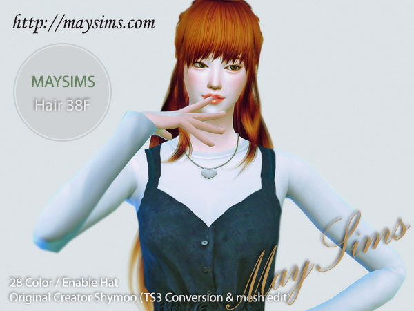 MAY Sims: May Hair 38F retextured for Sims 4