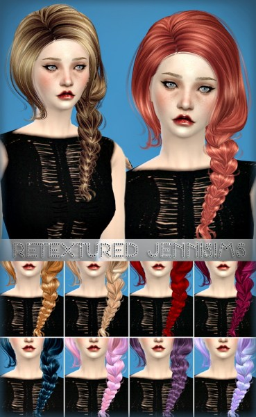 Jenni Sims: Newsea Immortal hairstyle retextured for Sims 4